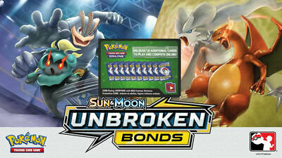 50x Sun and Moon Unbroken Bonds Pokemon PTCGO Online Codes In Hand via Messages