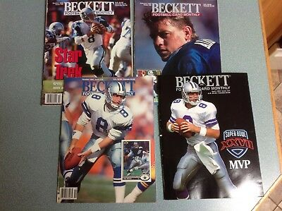 Troy Aikman Beckett Football Monthly lot of 4  Cowboys