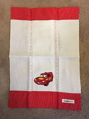 Cars Mcqueen Personalized baby embroidered burp clothe