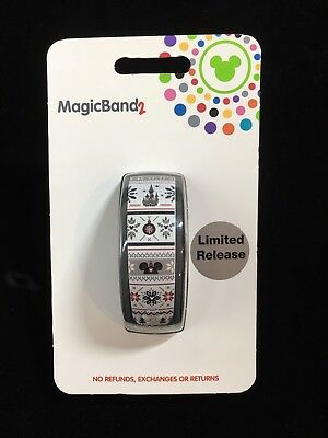 NEW Disney Parks 2018 Christmas Holiday Sweater MAGIC BAND 2 Limited Release LE