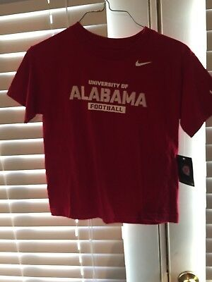 Boys Youth Size 7 Nike Alabama Crimson Tide Short Sleeve Shirt. New With Tags.