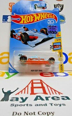 2018 50th Ann Hot Wheels Indy 500 Oval Factory Sealed 2018 Set Legends Of Speed