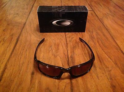 Oakley Women's Fives Squared Black Rectangle Sunglasses NEW