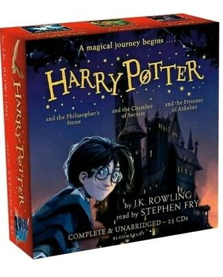 Harry Potter Books Collection Audio Books 1-3(25 cd) new and factory sealed