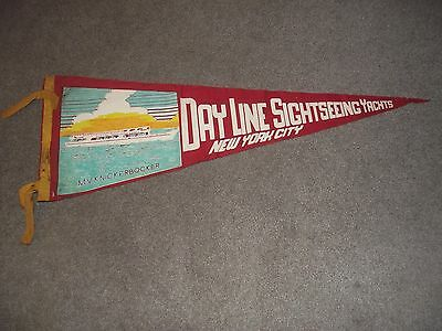Vintage Day Line Sightseeing Yachts New York City Souvenir Pennant