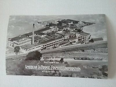 American-LaFrance-Foamite Corp. Factory at Elmira, N.Y. Real Photo Postcard