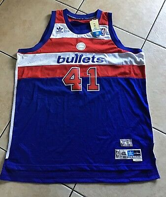 6a4b674e8 Adidas Hardwood Classic WES UNSELD No 41 WASHINGTON BULLETS 1977-78 (2XL)  Jersey
