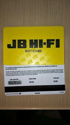 JB Hi-Fi Gift Card $100 - Email Delivery or can post out