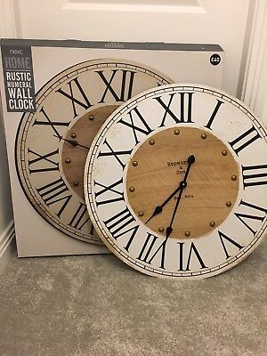 Next Home rustic Numeral Wall Clock large kitchen dining room