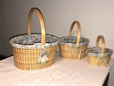 Claire Murray Nantucket Style Oval Baskets Set Of 3 Matching Baskets