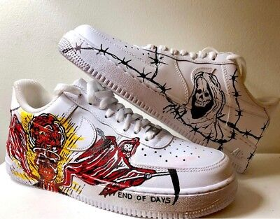 cheap for discount f5673 10b2b Custom Painted Sneakers Nike Air Force Ones - Made To Order