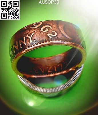 Australian One Penny 1962 Coin Ring