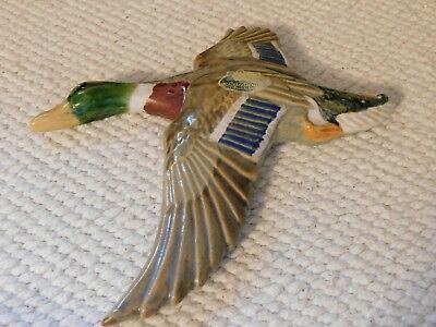 Rosemeade Pottery Large Duck Plaque - 7""