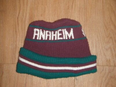 Vintage   Rare Anaheim Mighty Ducks Beanie Adult One Size Hockey NHL! e0813633ceec