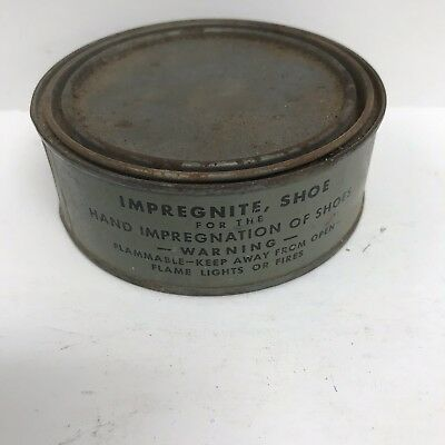 Vintage WWII US Army USMC Can of M1 Military Collectible Shoe Impregnite