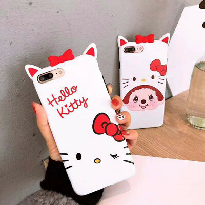 For iPhone XS Max XR X 8 7 6s Plus Cute Bowknot Cartoon Rubber Slim Case Cover