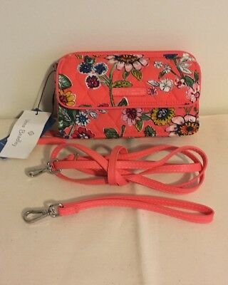 One In Crossbody Coral Cotton Floral Vera Bradley All Signature Rfid Nwt 9EDI2WH