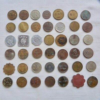 Lot of 42 unattributed trade tokens