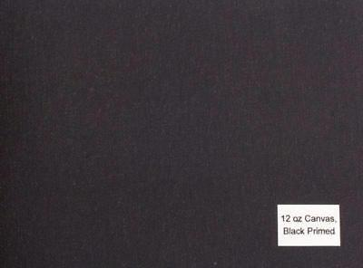 Luca Canvas Rolls - acrylic primed BLACK-12oz (84'')  2.12x10m medium textrure