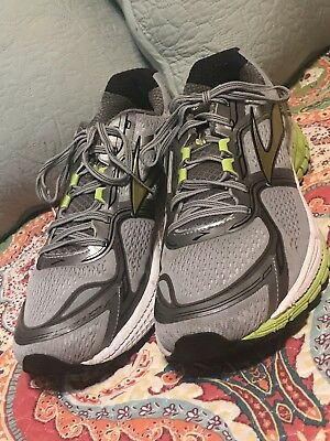 84613a58eb8 Brooks Ghost 8 Gray Lime Athletic Running Sneakers Shoes Men s Size US 13 M