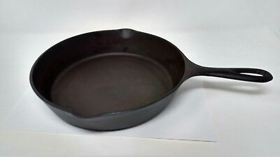 "Vintage #6 Three Notch Lodge (9"") Cast Iron Skillet - Restored By Hand"
