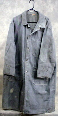 VINTAGE JC-PENNEY PAY-DAY CHORE DENIM COAT WORK 1950's UNION MADE