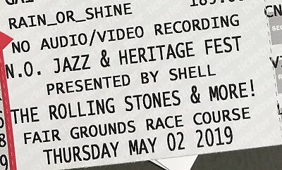 Rolling Stones, Jazz Fest May 2, 2019