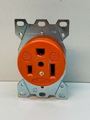 Hubbell 9550IG 50-Amp Isolated Ground Receptacle 125V 50A 2P 3W 5-50R