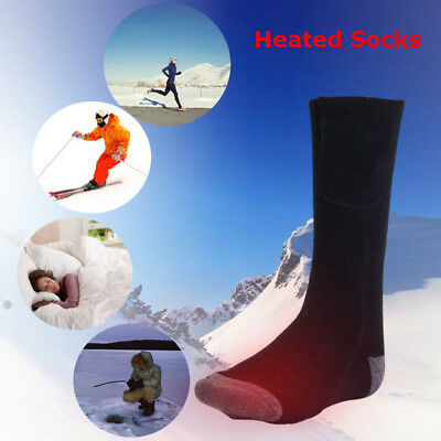 Electric battery heated socks feet warmer heater ice fishing foot shoe boot LJ
