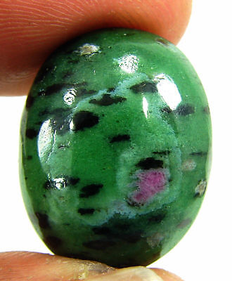 26.85 Ct Natural Ruby Zoisite Anyolite Loose Gemstone Cabochon Stone - 19393