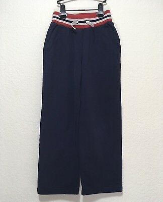 NEW ✅ HANNA ANDERSSON Boy Ribbed Waist Sweatpants 10-12y; 140cm Navy Blue