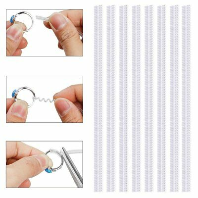 1-20Pc Ring Size Invisible Adjusters Reducers Spiral Snugs Guard Resizer Tool SU