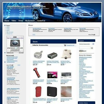 Automotive Interior Web Store Business Website For Sale Free Domain and Hosting!