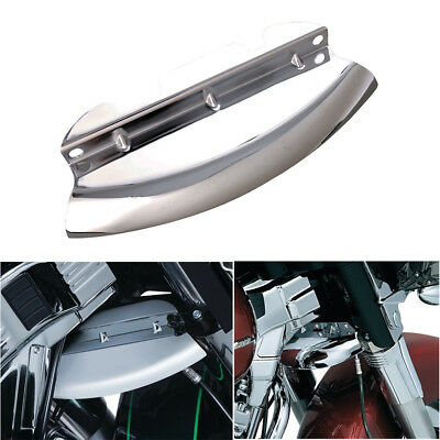 Chrome Lower Triple Tree Wind Deflector For Harley Touring Street Glide 2014-18