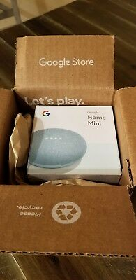 Google Home Mini (GA00275-US) Smart Assistant Speaker - Aqua