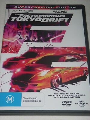 The Fast and The Furious Tokyo Drift Supercharged Edition DVD - Excell cond  R4