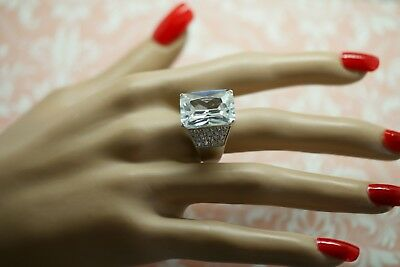 Antique Art Deco Vintage White Gold Ring Sapphire White Stones ring size N or 7