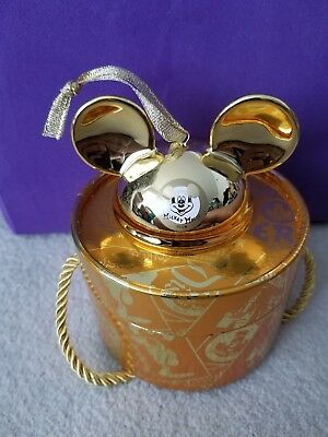 Disney Parks Mickey Mouse Club Gold Christmas Ornament 2018 Limited Edition 2000
