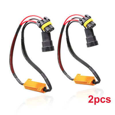 2× 9005 9006 LED DRL HID Headlight Kit Canbus Anti-Flicker Load Resistor Decoder