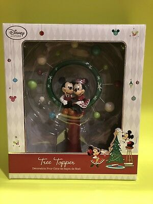 Boxed Disney Store MICKEY & MINNIE Mouse 2014 Christmas TREE TOPPER