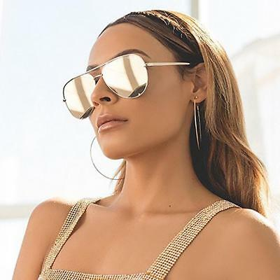 3e17a7598b2fe New Quay Australia x Desi Perkins High Key Mirror Sunglass Gold Gold Aviator