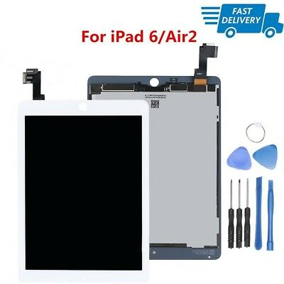White LCD Display Touch Screen Digitizer Assembly Replacement for iPad Air 2 6th