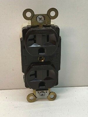 (6-Pack) Hubbell 5362 Spec Grade Power Outlet Receptacle 20A 125V 5-20R Brown