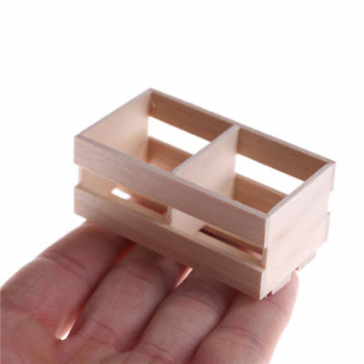 1:12 Scale Wooden Basket Storage Box Dolls House Miniature Kitchen Accessory New
