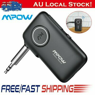 MPOW Wireless Bluetooth V5.0 3.5mm AUX Audio Stereo Home Car Receiver Adapter AU