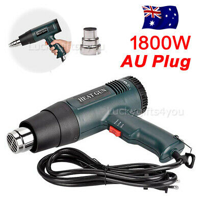 220V 1800W Electric Heat Gun Adjustable Temperature Hot Air Heating Tool AU