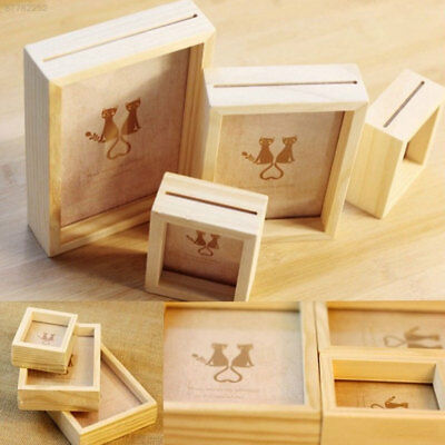8F08 Picture Frame Desk Wall Mounted Decor Home Fashion 3 Size Wooden
