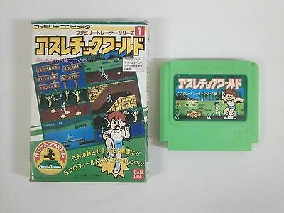 ATHLETIC WORLD-- Boxed. Famicom, NES. Japan game. Work fully. 12888