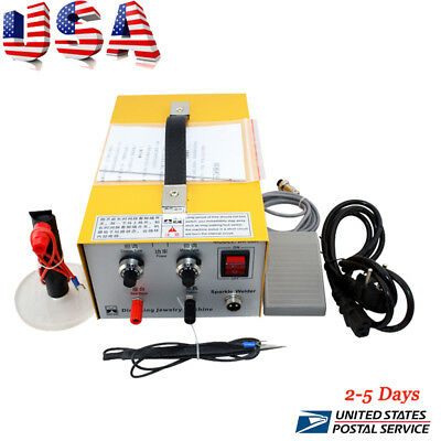 Pulse Sparkle Spot Welder 110V/220V Electric Jewelry Welding Machine Gold Silver