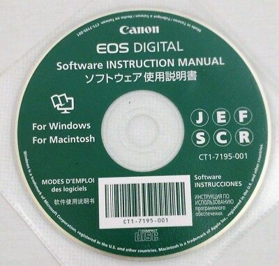 """Canon EOS Digital Software Instruction Manual"" , Pre-Owned , Never Used Cond !"